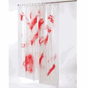 Halloween bloody hands shower curtain brand for Bathroom decor on amazon