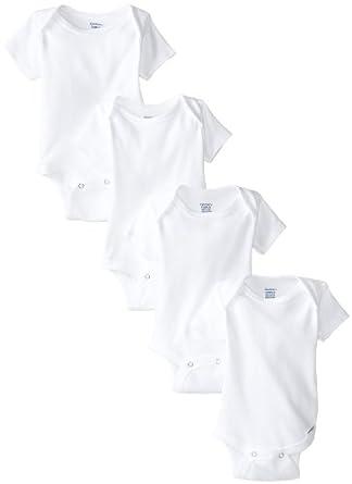 f4101d4b8 Gerber Unisex-Baby Newborn 4 Pack Organic Onesies Brand