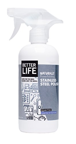 Better Life Stainless Steel Polish, Lavander & Chamomile, 16 Ounces (Pack of 2)