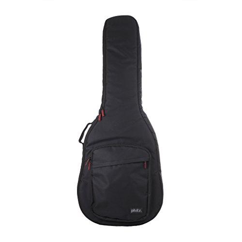Semi-Hollow Body Electric Guitar Case Black by Phitz (Hollow Body Electric Guitar Case compare prices)