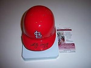 Whitey Herzog St.louis Cardinals,hof Jsa coa Signed Mini Helmet - Autographed MLB... by Sports+Memorabilia