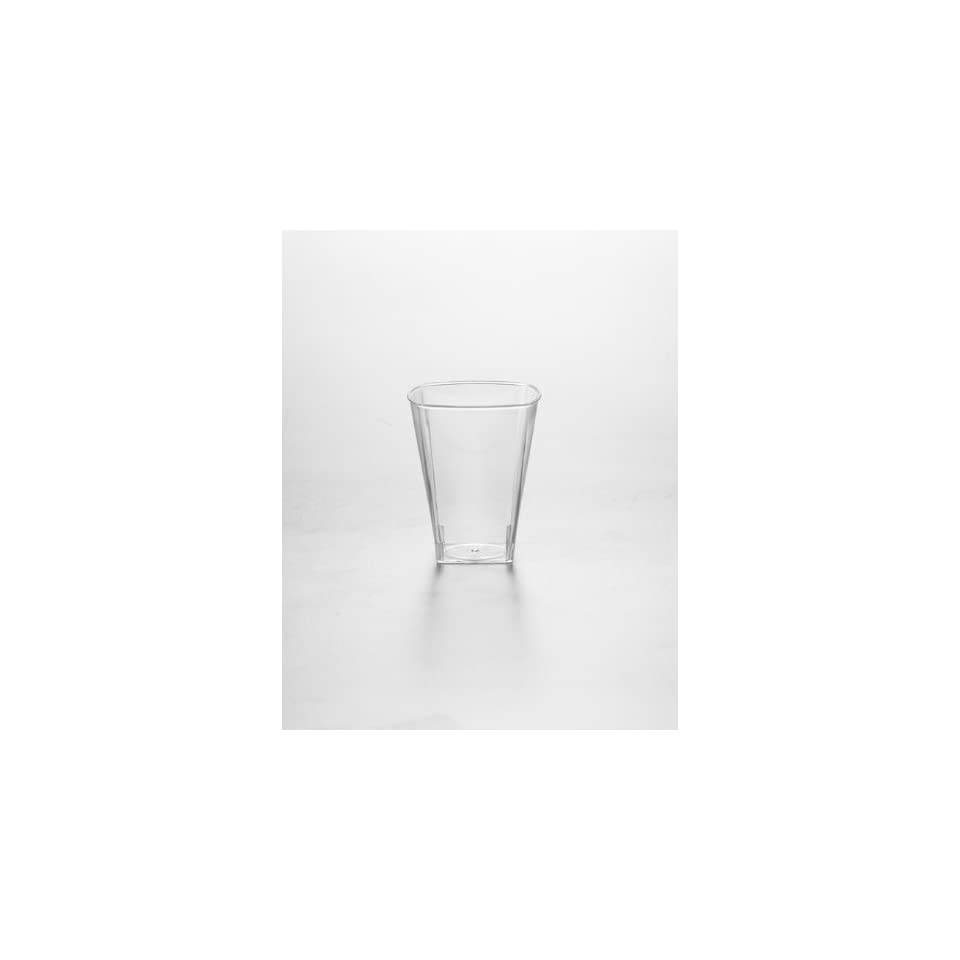 The Kaya Collection Clear Disposable 2 oz Square Plastic Shot Glass   960 Shot Glasses Kitchen & Dining