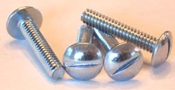"1//4-28 X 3//4 Slotted Round Head Machine Screw Fine Thread Bolt 750/"" UNF 10 Pcs"