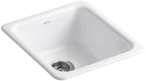 KOHLER K-6584-0 Iron/Tones Self-Rimming Undercounter Kitchen Sink, White (Kohler Iron Tones compare prices)