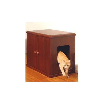 A catbox cabinet for darker decor