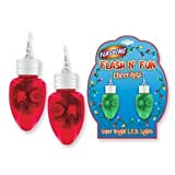 Christmas Holiday Light up Light Bulb Flashing Earrings-Assorted Colors