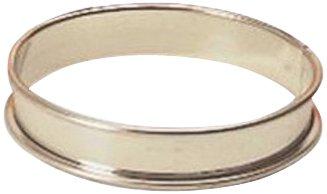 Matfer Bourgeat 371616 Plain Tart Ring, Silver