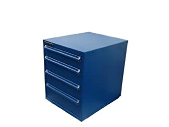 "Equipto 4263H Steel Modular Drawer Cabinet, 200 lbs Drawer Capacity, 22-1/2"" W x 29"" H x 27-3/4"" D, Textured Regal Blue, Four Drawers: One 4-1/2"" H, Two 6"" H, One 7-1/2"" H with H Type Dividers"
