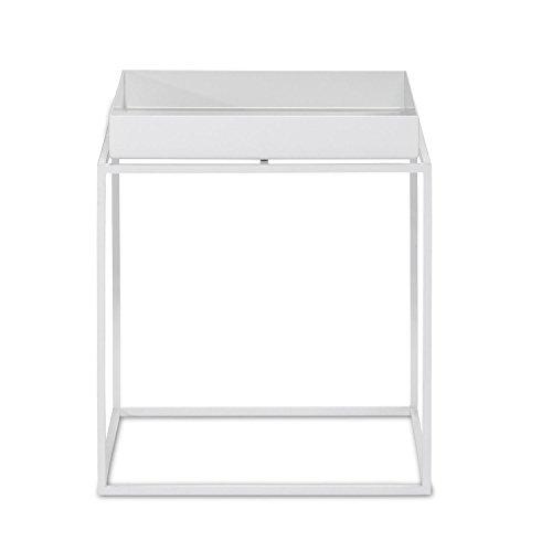Hay Tray Table Beistelltisch, weiß 30x30x34cm