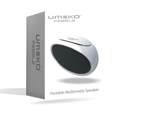 UMEKO Pebble 2 Portable Multimedia Speaker,USB / TF, FM radio player (White)