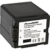 Power2000 ACD757 Replacement Lithium-Ion 7.2v, 3000mAh Camcorder Battery for Panasonic VW-VBG260