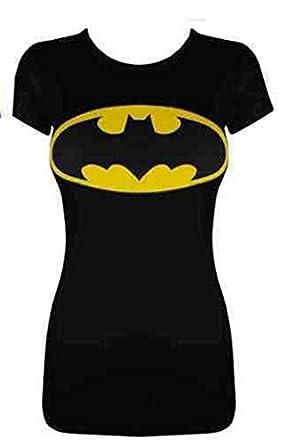 Womens Ladies New Printed 'BATMAN' Comic Hero T-Shirt Vest Top(Sizes S/M-M/L (S/M, black)