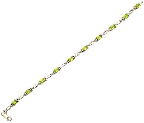 Sparkling Drop, Jaipur Handcrafted Designer Sterling Silver Bracelet Jewellery -SDJZB216P_SS (orange)