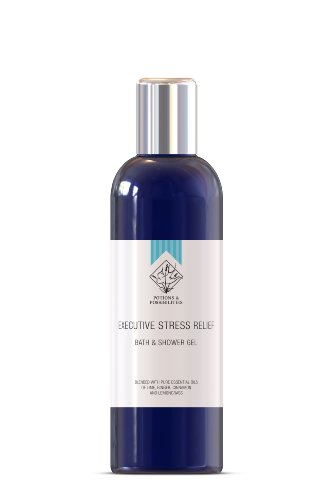 Executive Stress Relief Luxury Aromatherapy Bath & Shower Gel - with pure essential oils of Lime, Ginger, Cinnamond and Lemongrass (200ml)
