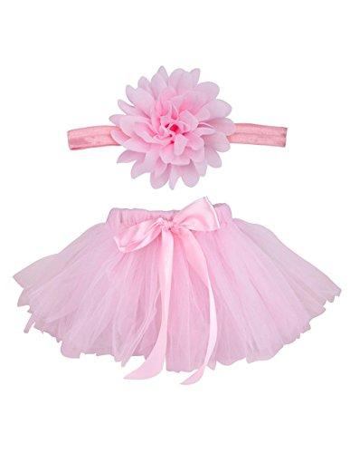 Blulu Baby Girls Tutu Skirt Dress Headband Set for Photography Prop