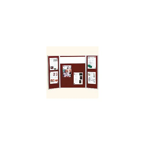 Tri Fold Table Top Display Board with Assorted Fabric