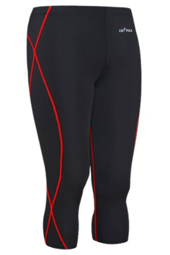 Emfraa Skin Tight Three Quarter Pants Men Women Compression Running Base Layer S ~ 2XL