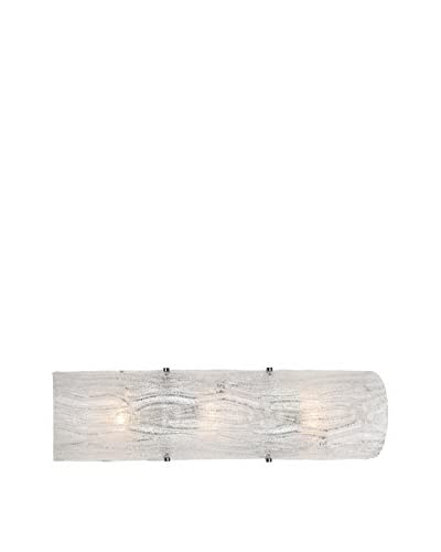 Alternating Current Brilliance 3-Light Bath Fixture, Bright Ice/Polished Chrome
