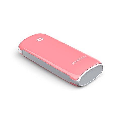 改良版RAVPower 6000mAh多彩シリーズ大容量モバイルバッテリー1年間の安心保証5V/2.1A出力iPhone6plus/6/5S/5C/5/4S・iPad Air/mini・apple社その他製品・Xperia・GALAXY S・softbank・au・docomo・各種タブレット・Wi-Fiルータ・各社Androidスマホ/ウォークマン等マルチデバイス(ピンク)RP-PB17