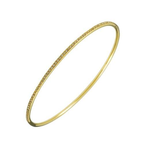 Oro 18ct 1,02DWT diamante giallo Slip-on Bracciale Eternity