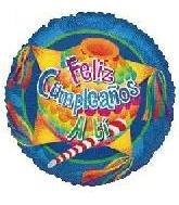 "CONVER USA Feliz Cumpleanos a Ti-Party Balloon Pack, 18"", Multicolor"
