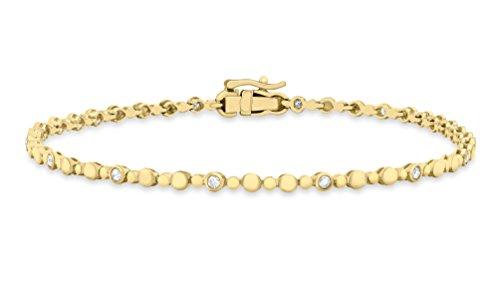 Carissima Gold 9 ct Yellow Gold 0.25 ct Diamond Circle Bracelet of 19 cm/7.5-inch