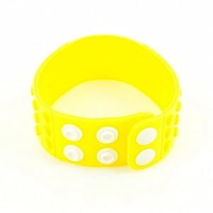 P&o Fashion Man Woman Silicone Replaceable Wrist Watch Band Yellow