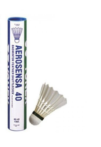 Yonex Aerosensa 40 Shuttlecocks, Pack Of 12 (White)