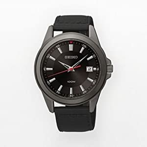 Seiko Mens Stainless Steel Black Ion Watch SGEG91