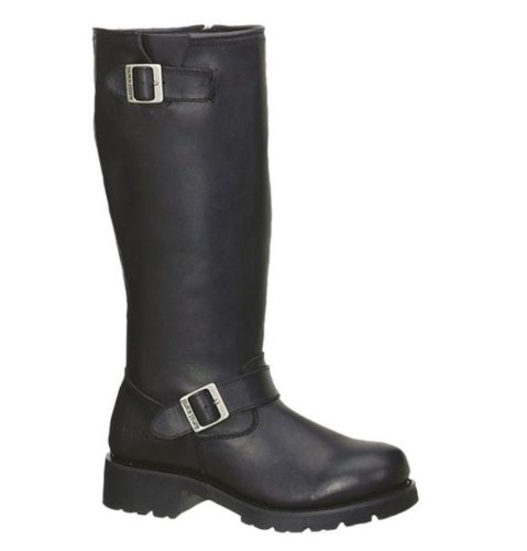 Ad Tec Men's Engineer Leather Motorcycle Boot. Goodyear Welt Construction. 16-Inches High. Two Buckle. 1443
