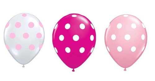Neo LOONS 36ct Assorted Pink Light Pink Clear Polka Dots Balloons