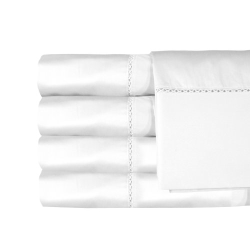 MADE IN THE USA Bella 300TC 100% Cotton Sateen Sheet Set, Twin, White By Veratex (Made In Usa Sheet Set compare prices)