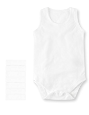 7 Pack Pure Cotton Sleeveless Bodysuits