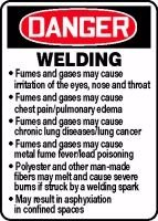 DANGER WELDING FUMES AND GASES MAY CAUSE IRRITATION OF THE EYES, NOSE AND THROAT FUMES AND GASES MAY CAUSE CHEST PAIN/PULMONARY EDEMA FUMES AND GASES MAY CAUSE CHRONIC LUNG DISEASES/LUNG CANCER ... 14