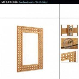 Miroir de salle de bain en bambou cuisine maison for Miroir salle de bain bambou