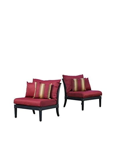 RST Brands Astoria Set of 2 Armless Chairs, Red