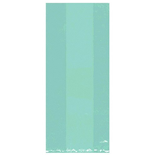 "Amscan Festive Small Party Bags, 9-1/2 x 4 x 2-1/4"", Robins Egg Blue"