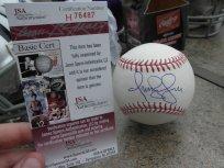 Omar Vizquel signed OML baseball Cleveland Indians White Sox JSA COA by Rawlings