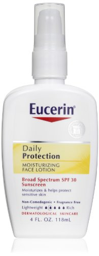 Eucerin Daily Protection Moisturizing Face Lotion, Broad Spectrum Spf 30, 4 Ounce (Pack Of 2) front-58787