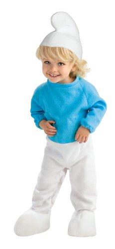 [The Smurfs Movie Romper Costume, Blue, Newborn (0-6 Months)] (Smurf Baby Costumes)