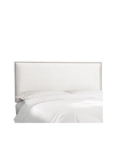 Skyline Furniture Queen Nail Button Border Headboard, Premier White