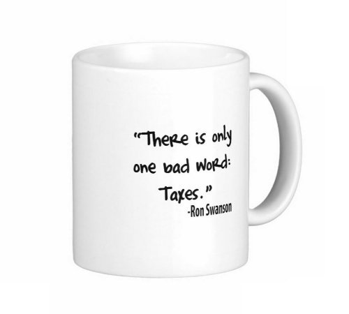 0271* 11 Oz Ron Swanson Quote There Is Only One Bad Word Parks And Rec Coffee Mug - Dishwasher And Microwave Safe