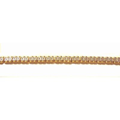 Women's Arthritis Therapy Link Bracelet with Gorgeous Design and Clear Rhinestones