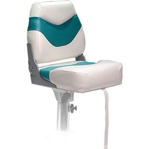 DeckMate PFS Fishing Boat Seats - Ivory & Teal