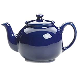 Fox Run Brands Earthenware Teapot, 55-Ounce, Blue by Fox Run
