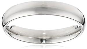 Men's 14k White Gold Comfort-Fit Plain Wedding Band (4 mm), Size 8