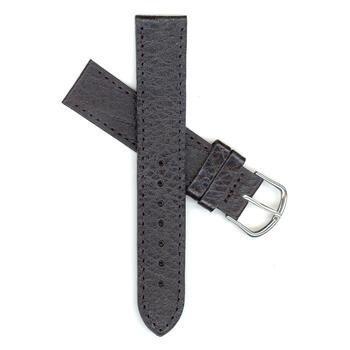 Genuine Swiss Army 20Mm Regular Length Black Leather Strap