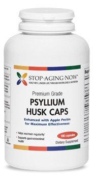PSYLLIUM HUSK 700 mg with Apple Pectin - Premium Grade, High Fiber Formula | 180 Caps. Made in USA.