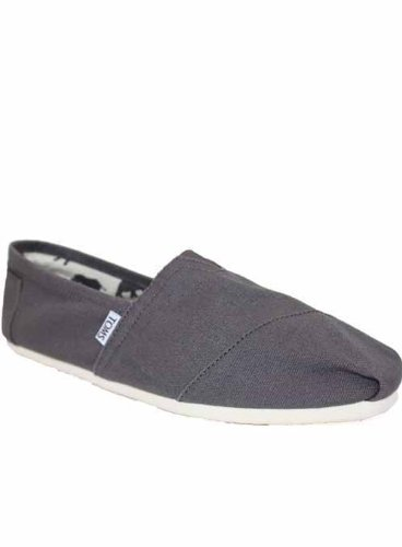 Toms Mens Espadrilles Grey Canvas Shoes 13