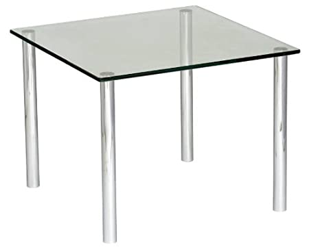 Micro Coffee Table 525 x 525 frosted/coloured